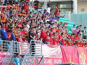 CĐV U23 Việt Nam tại sân Bishan: Tự hào hai tiếng Việt Nam