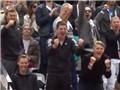 Schweinsteiger ăn mừng như vô địch World Cup khi bạn gái Ivanovic vào Tứ kết Roland Garros
