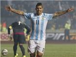 Aguero ghi bàn vào lưới Paraguay, nâng tỉ số lên 5-1 cho Argentina