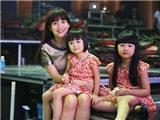 """Vợ Bình Minh đưa con gái đi tập hát """"Ba ngọn nến lung linh"""""""