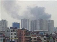 Cháy nhà kho xưởng sản xuất ô tô Hòa Bình, Hà Nội