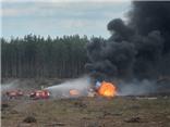 VIDEO: Máy bay Nga Mi-28N rơi như chong chóng và nổ tung, 1 phi công thoát nạn