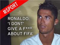 Ronaldo văng tục khi được hỏi về scandal của FIFA
