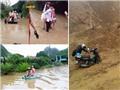 Giao thông giữa mưa lụt: Những hình ảnh 'chưa từng thấy trên đường'