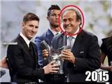 Khi Messi nhận giải, Platini vui, Ronaldo buồn...