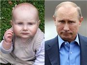 Không thể tin nổi: Những em bé giống người nổi tiếng như đúc