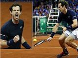 Chung kết Davis Cup: Đồng đội sẩy chân, Murray giúp tuyển Anh gỡ hòa