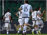 Palermo 0-3 Juventus: Juve thắng trận thứ 4 liên tiếp