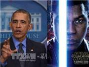 Ông Obama họp báo nhanh vì vội đi xem 'Chiến tranh giữa các vì sao'