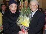 Tổng Bí thư Nguyễn Phú Trọng chúc thọ nguyên Tổng Bí thư Đỗ Mười tròn 100 tuổi