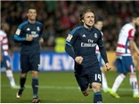 Granada 1-2 Real Madrid: 'Siêu phẩm' của Modric giúp Real tiếp tục bám đuổi Barca
