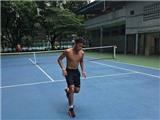 Xem buổi tập của tuyển quần vợt Việt Nam tại Indonesia