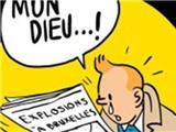 Tintin khóc thành biểu tượng của Brussels sau vụ đánh bom