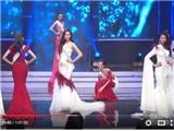 Hoa khôi Áo dài 2016: Thí sinh bất ngờ vấp ngã trên sân khấu