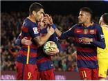 """Barcelona 6-0 Sporting Gijon: Suarez lại lập poker, Barca """"đánh tennis"""""""