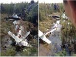 Trực thăng Trung Quốc rơi xuống núi, hai người chết