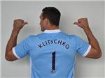 Wladimir Klitschko mặc áo Man City khiêu khích Tyson Fury