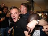 Cầu thủ Leicester City vỡ òa trong giây phút đăng quang
