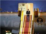 VIDEO: Hình ảnh đầu tiên của Tổng thống Obama tại sân bay Nội Bài