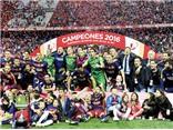 Barcelona 2-0 Sevilla: Alba, Neymar lập công, Barca giành cú đúp
