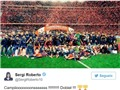 Cầu thủ Barca 'gây bão' trên mạng xã hội sau khi giành cúp Nhà Vua