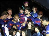 Pháo hoa, ánh sáng tràn ngập Camp Nou trong ngày Barca khoe cú đúp danh hiệu