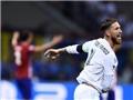 QUAY CHẬM: Sergio Ramos đã ghi bàn ở thế việt vị