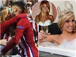 Carrasco gây 'sốt' sau nụ hôn hoa hậu Bỉ ở Chung kết Champions League