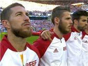 Pique nói gì về vụ 'giơ ngón tay thối' về phía Ramos trong lúc hát quốc ca?