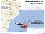 ĐỒ HỌA: Vị trí, độ sâu tìm thấy máy bay CASA 212