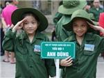 130 'chiến sĩ nhí' xuất quân đi bộ đội giữa mùa hè