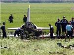 Cận cảnh máy bay L39 rơi trên cánh đồng Phú Yên