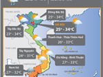 Thời tiết 21/10: Nhiều nơi có khả năng xảy ra tố lốc và gió giật mạnh