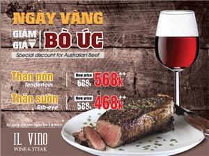Ăn trưa sang chảnh kiểu Châu Âu, ăn tối với thịt bò Australia, rượu vang hảo hạng đang khuyến mãi sâu ở đâu?