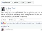 Công Vinh và HLV Henrique Calisto chúc mừng U19 Việt Nam