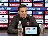Genoa 3-0 Milan: Thua thảm, Montella vẫn cực kỳ lạc quan