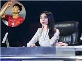 Thuỷ Tiên được Chí Thiện chúc mừng vì Công Vinh ghi bàn thắng thứ 50