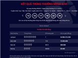 Xổ số điện toán Mega 6/45 Vietlott thêm người trúng giải Jackpot 55 tỷ