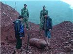 Dời quả bom nặng 3 tạ rưỡi tại công trình cửa khẩu Cha Lo