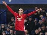 Everton 1–1 Man United: Ibrahimovic vẫn ghi bàn nhưng M.U lại mất điểm cay đắng