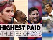 Ronaldo: VĐV thu nhập cao nhất thế giới 2016