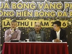 Ca sỹ Tuấn Hưng có cơ hội giành Quả bóng Vàng phủi 2016