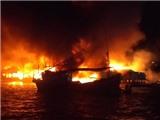Nhiều căn nhà bốc cháy kinh hoàng ở Nha Trang
