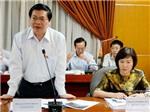Thi hành kỷ luật ông Vũ Huy Hoàng và bà Hồ Thị Kim Thoa