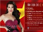 Bắt đầu bình chọn cho Lệ Hằng vào top 12 Hoa hậu Hoàn vũ 2016