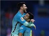 Atletico 1-2 Barcelona: Messi, Suarez tỏa sáng, Barca đặt một chân vào chung kết cúp Nhà vua