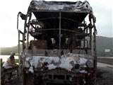 Xe ô tô bốc cháy trên cao tốc Thành phố Hồ Chí Minh-Trung Lương, 14 người thoát nạn
