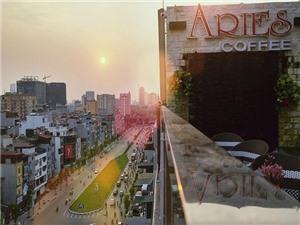 Aries Coffee: Uống cafe và ngắm nhìn Hà Nội từ trên cao