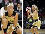 'Mỹ nhân' Bouchard thử tài với bóng rổ