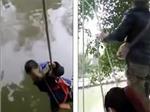 VIDEO: Phẫn nộ với cảnh người cha dọa thả con xuống sông để... dạy toán